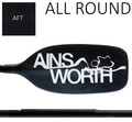 Ainsworth Paddles - 'All Round' AFT One Piece Alloy Straight Shaft Kayak Paddle 210cm