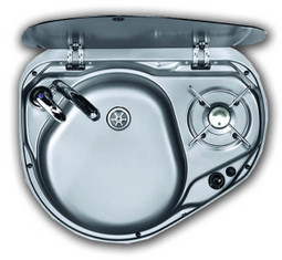 The Dometic Smev MO8821 caravan & motorhome combi unit sink (LEFT HAND SINK)
