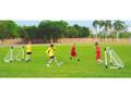 Portable football goals set of 2 practice soccer goal posts