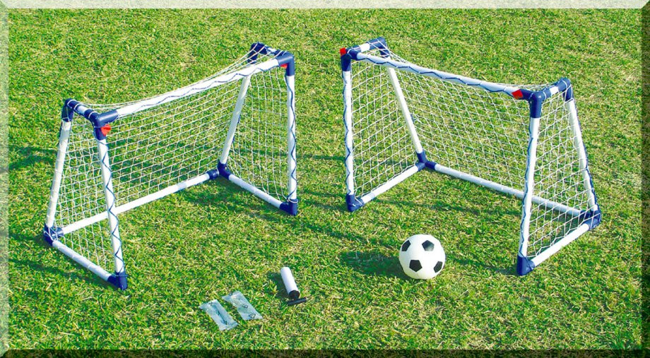 9fcaeb2d Junior Twin Mini Goals with A Frames Kids Practice Soccer set UK