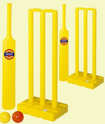 The Children's Complete Cricket Set comes with 2 bats, 2 wickets, and 2 balls.