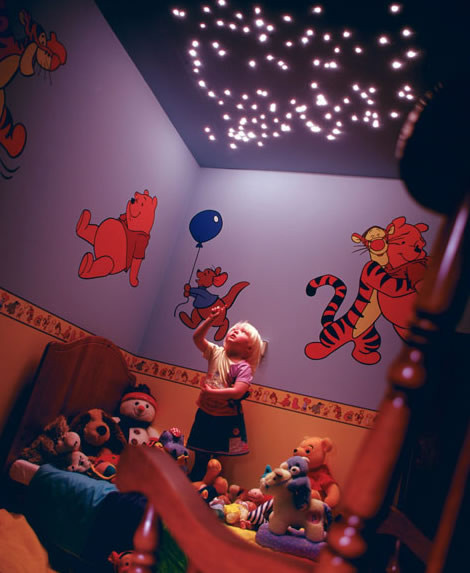 Small fibre optic led light star effect ceiling kit ss112 a childrens room magically transformed with fibre optic ceiling star lights which double as a aloadofball Image collections
