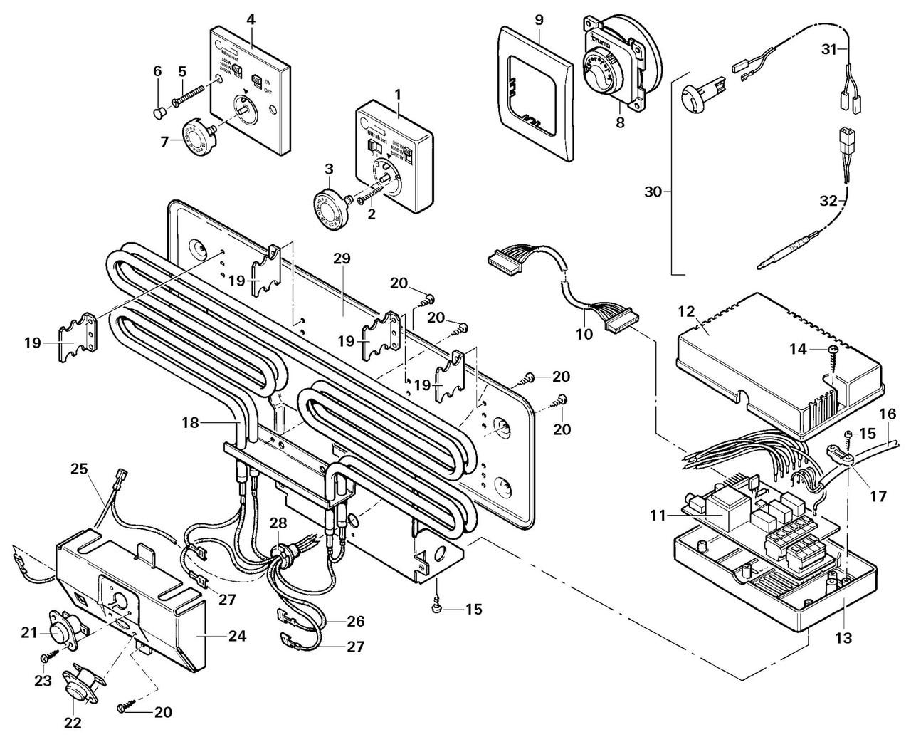 Truma Ultraheat Motorhome Heater Element. Larger / More Photos