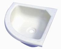 caravan bathroom sink small corner basin for motorhome caravan and campervan 12239
