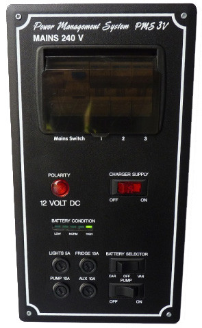 Bonus Electrical Pms 3v Vertical Caravan Control Panel