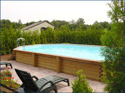 Gardi wooden above ground timber swimming pool - Wood above ground pool ...