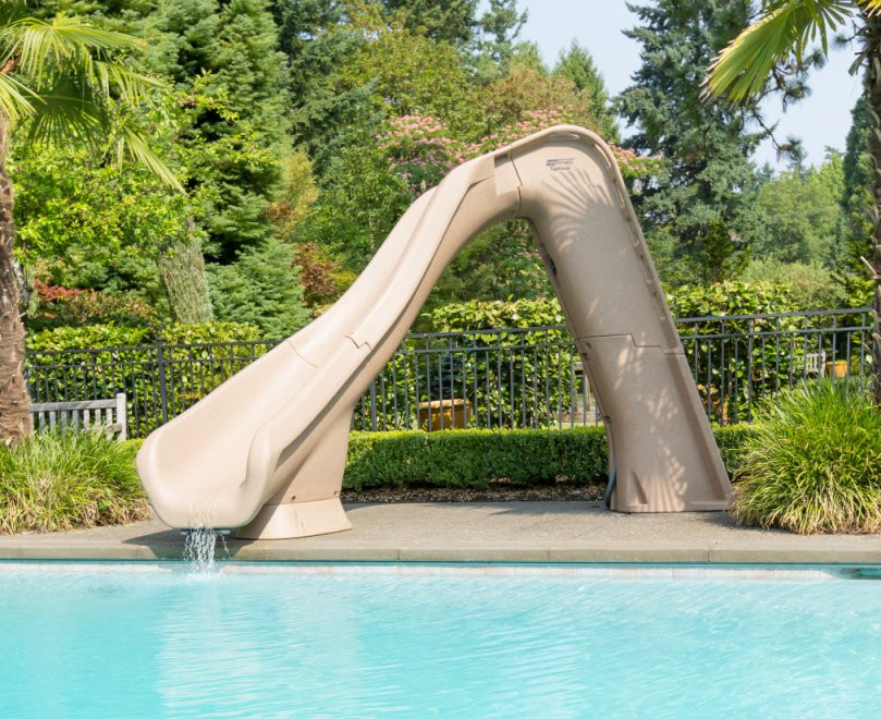 SR Smith Typhoon Swimming Pool Water Flume Slide