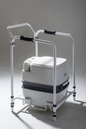 Thetford Porta Potti Qube and Frame with back Rest