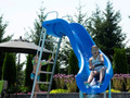SR Smith Rogue 2 Swimming Pool Right Hand Curved Water Slide marine blue