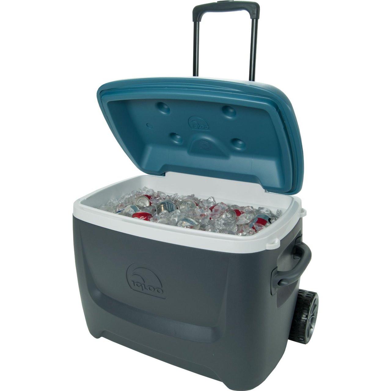 79db5b719a5 Igloo Island Breeze Roller Cool Box Max Cold 50 Quart Wheeled Ice Chest