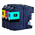 Brother LC125XL ink cartridges. Brother LC125XLC, LC125XLM, LC125XLY inkjets