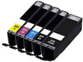 Canon PG550 CL551 black black cyan magenta and yellow ink cartridges