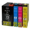 Epson 27XL Multipack BCMY compatible ink cartridges - high capacity. Epson T2711, T2712, T2713, T2714