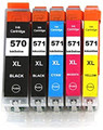 Compatible Canon PGI570XL CLI571XL multipack printer ink cartridges