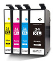 Compatible to Epson 34XL multipack. Non OEM printer ink cartridges