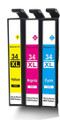 Epson 34XL cyan, magenta, yellow compatibles, Non OEM, high capacity