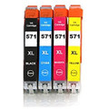 Compatible to CLI 571XL black cyan magenta yellow printer ink cartridges