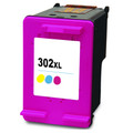 HP 302XL black ink cartridge. Remanufactured. A great alternative to original ink