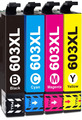 Compatible with Epson 603 603XL Ink Cartridges Multipack, for Expression Home XP-2100 XP-2105 XP-3100 XP-3105 XP-4100 XP-4105, Workforce WF-2810 WF-2830 WF-2835 WF-2850 Non OEM
