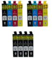 Compatible Epson T0711 T0712 T0713 T0714 multipack 12 ink printer ink cartridges