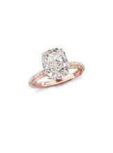 Cushion Cut Solitaire in Pink Gold