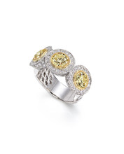 Fancy Yellow Round Brilliant Ring