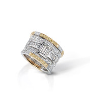 Modern Art Deco Eternity Band