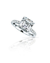 Asscher Cut Simple Solitaire