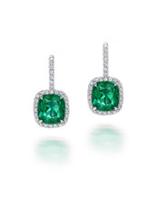 Emerald Dangling Earrings