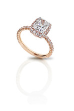 Cushion Solitaire in Rose Gold