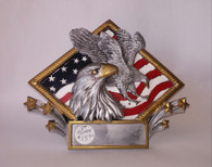 Resin Diamond Eagle Plate