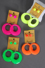 "**Neon** Size-2"" Wide Ball-10mm,4 Color ."