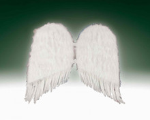 "FEATHER WINGS WHITE BIG SIZE 31 "" long one wing. 18"" wide one wing."