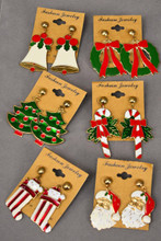 40049 Xmas Earrings Enamel -09994
