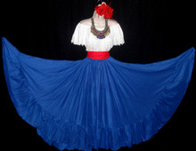 091 CIRCULAR  ROYAL BLUE DANCE SKIRT
