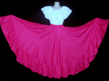094 CIRCULAR BRIGHT MAYENTA DANCE SKIRT