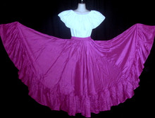 093 CIRCULAR BRIGHT EGGPLANT DANCE SKIRT