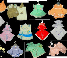 Lot of 65  -4 p/c sets of newborn babies for girls and boys.COMMERCIAL OPPORTUNITIES.