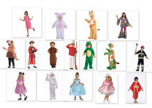 LOT OF 85 COSTUME FOR CHILDRENS. COMMERCIAL OPPORTUNITIES.