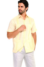 2023 GUAYABERA 1673 MEN YELLOW