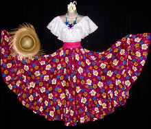 20010 JIBARA LONG FLOWER EGGPLANT SKIRT 3 P/C SET