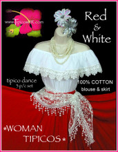 20080 DANCE RED & WHITE 3 P/C SET