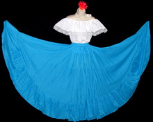 099 CIRCULAR BRIGHT BLUE DANCE SKIRT