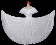 096 CIRCULAR BRIGHT WHITE DANCE SKIRT