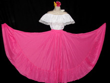 095 CIRCULAR BRIGHT PINK DANCE SKIRT