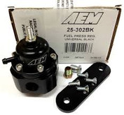 AEM Adjustable Fuel Pressure Regulator (Black)