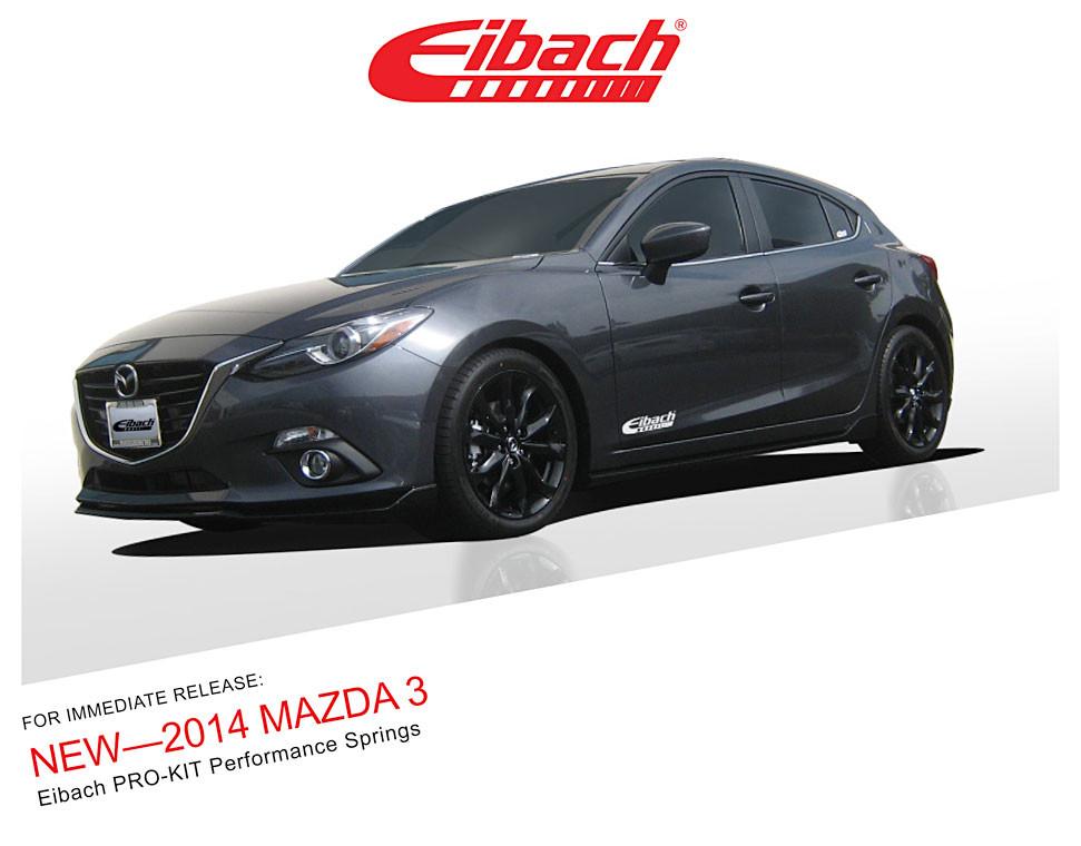 including 5-Door 5557.140 BM Pro-Kit for 2014 Mazda 3 2.5L 4 Cyl Eibach