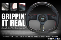 NRG CARBON FIBER STEERING WHEEL 320mm