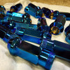 Muteki SR48 Burned Blue Open End Lug Nuts 12x1.25