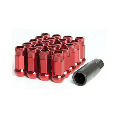 Muteki SR48 Open End Lug Nuts - Red 12x1.50 48mm